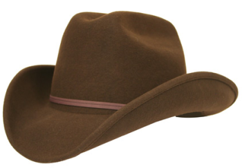 Wild West hat worn by The Cowboy