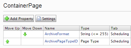 Setting local archive format on container pages in Epinova.DateTreeArchive