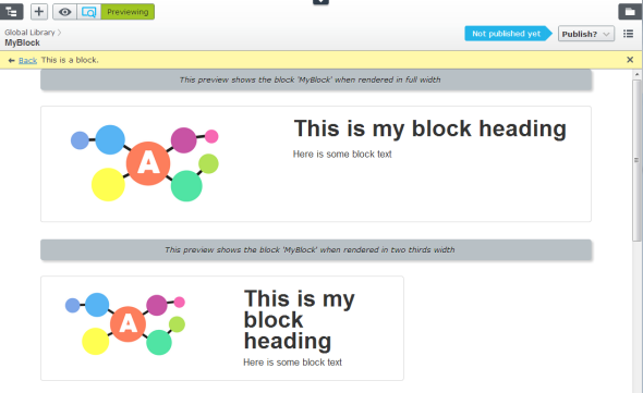 Preview of a new Shared Block in EPiServer 7
