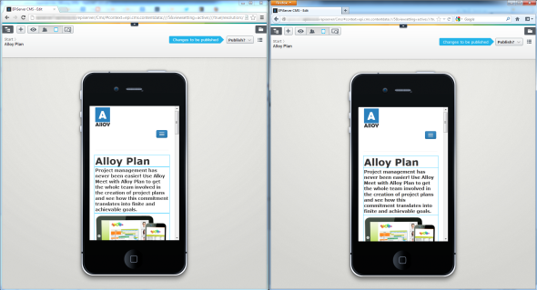 Sharing edit view in EPiServer 7 Chrome Firefox side by side