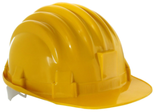 Hard hat worn by The engineer