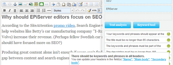 Some of the SEO rules forces the editor to use more words than natural