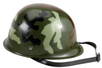 Army helmet worn by The Soldier