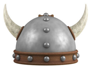 Horned helmet worn by The Berserker